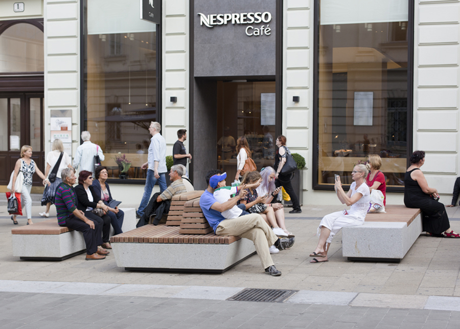 Wenen heeft langste shared space van Europa, Mariahilfer Strasse, Bureau B+B stedebouw en landschapsarchitectuur