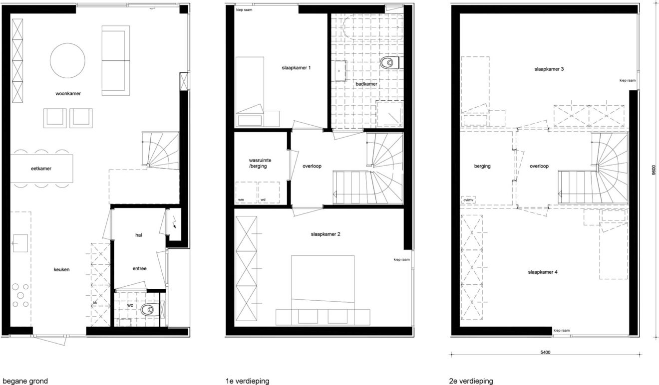 End house plattegronden