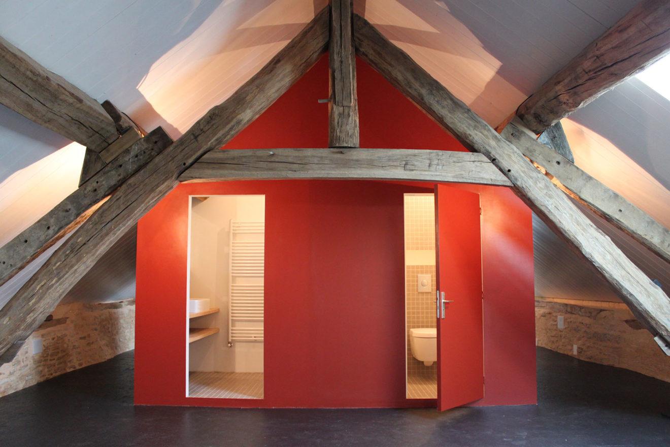 Vakantiehuis Bourgogne badkamer + wc