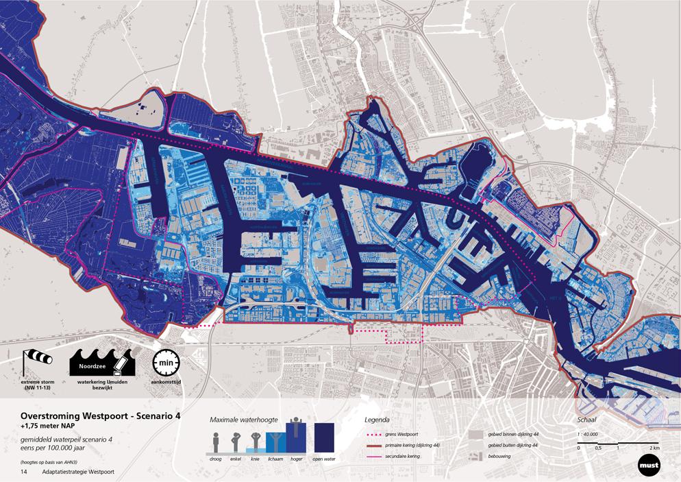 Scenario overstroming Westpoort