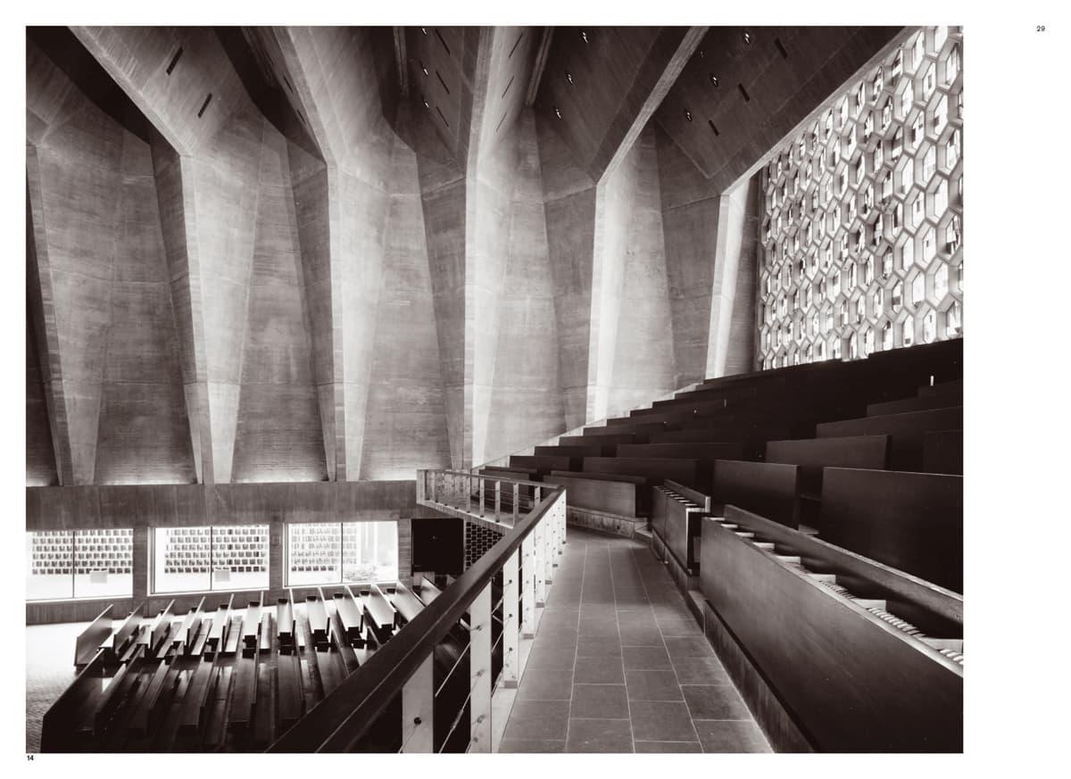 Spread uit Marcel Breuer: Building Global Institutions / Saint John's Abbey Church / ontwerp Marcel Breuer