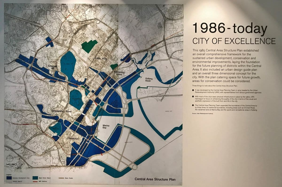 Structuurplan 1986 Marina Bay
