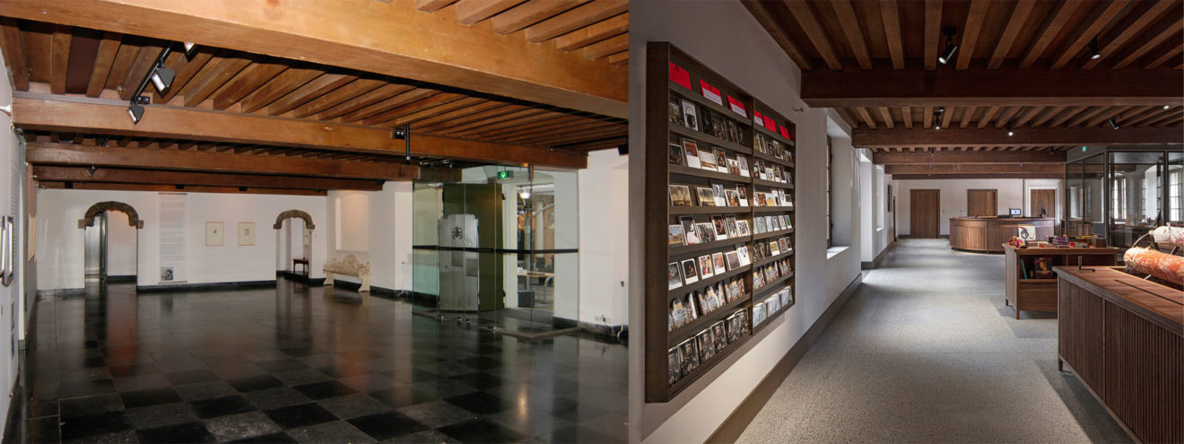 Museum De Lakenhal, Leiden interieur voor en na de verbouwing door HCVA
