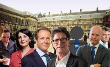 collage met de hoofdrolspelers van de verbouwing van het Binnenhof