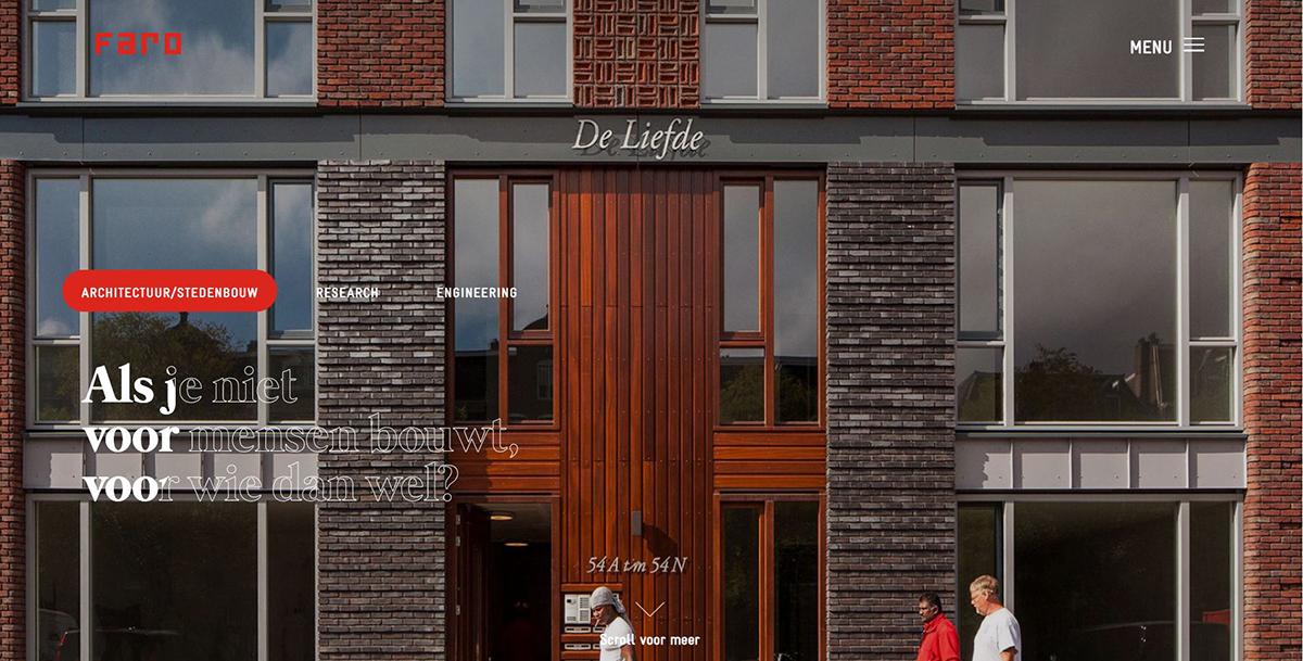 ARO architecten nieuwe site