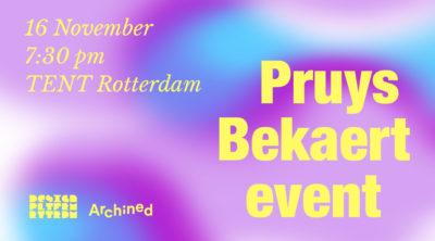 aankondiging Pruys Bekaert Event