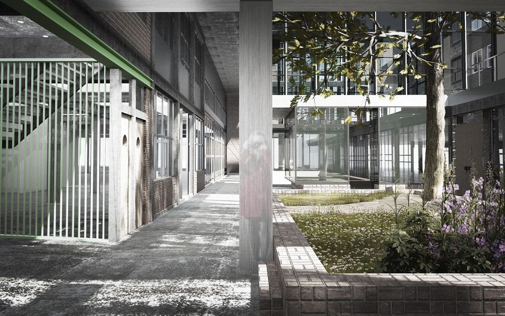 beeld publiek expeditiehof afstudeerproject Expeditie Rotterdam van Hedwig van der Linden