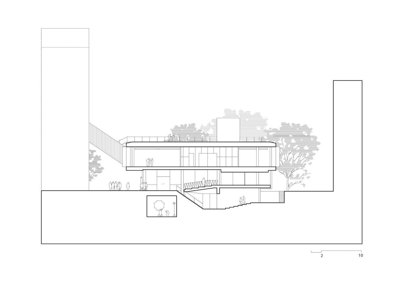 dwarsdoorsnede Rietveldgebouw