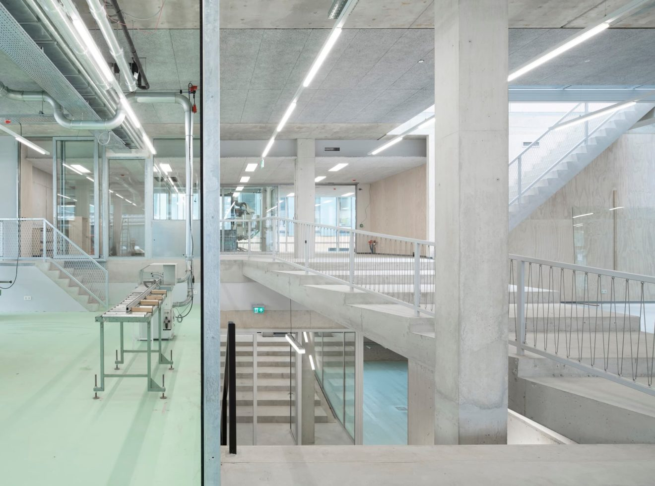 Eerste verdieping nieuwbouw Rietveldacademie