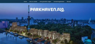 screenshot website parkhaven