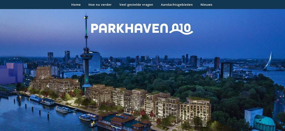 screenshot website parkhaven