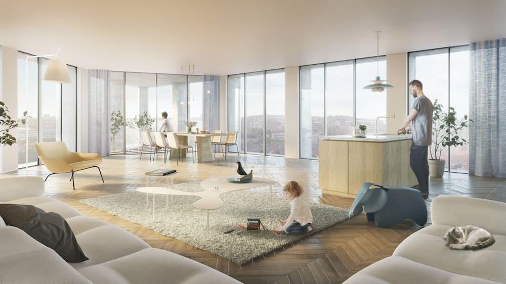 Penthouse De Meelfabriek / ontwerp Studio Akkerhuis
