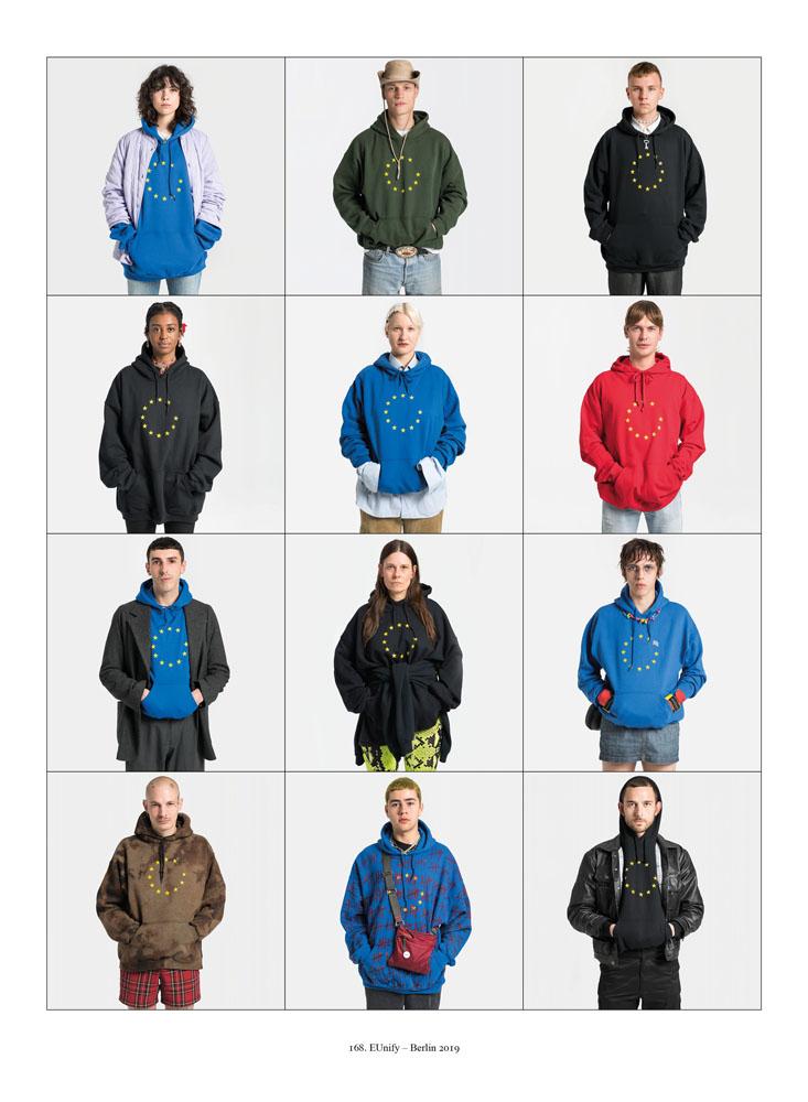 Exactitudes 168. mensen met hoodies met EU logo Ari Versluis and Ellie Uyttenbroek