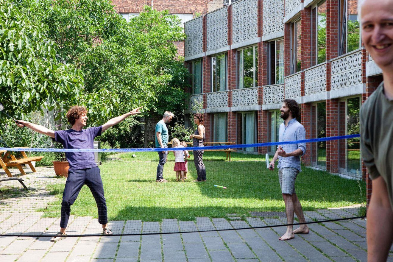 gemeenschappelijke binnentuin Drukkerij Antwerpen