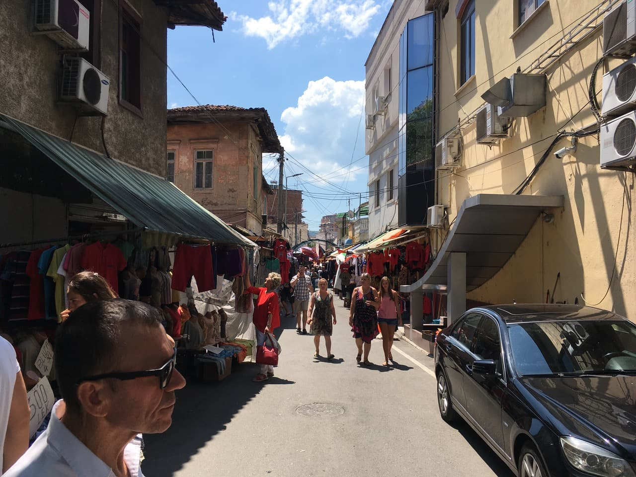 Tirana Tightness of small-scale historic streets