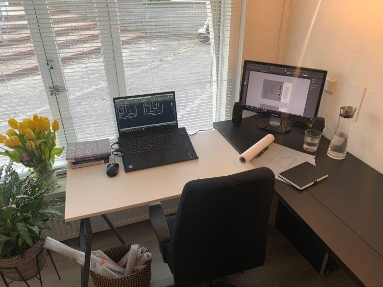 De werkplek van Anouk Raaijmakers