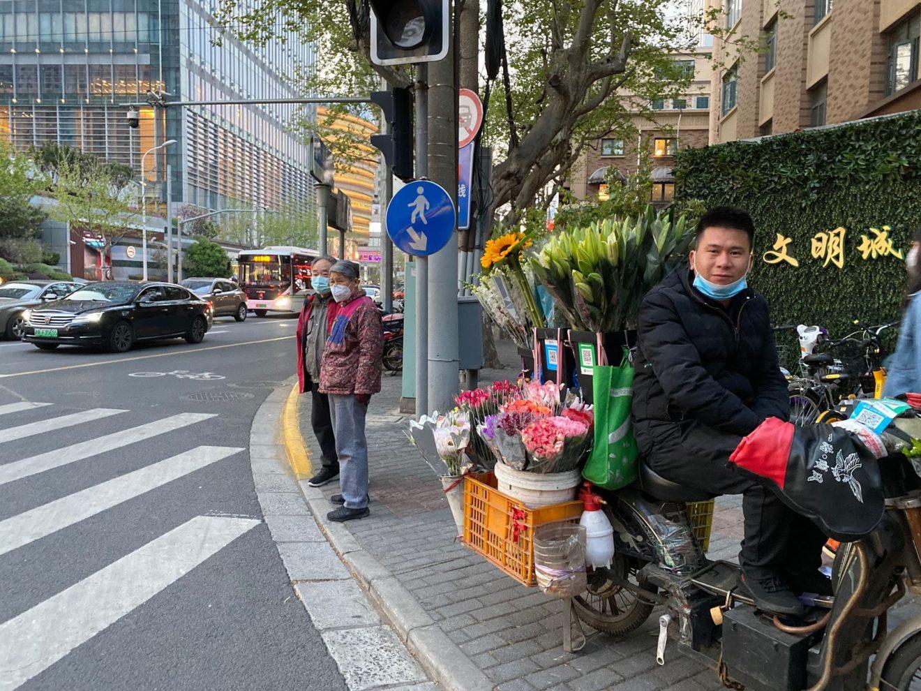 informele straatverkoop in Shanghai