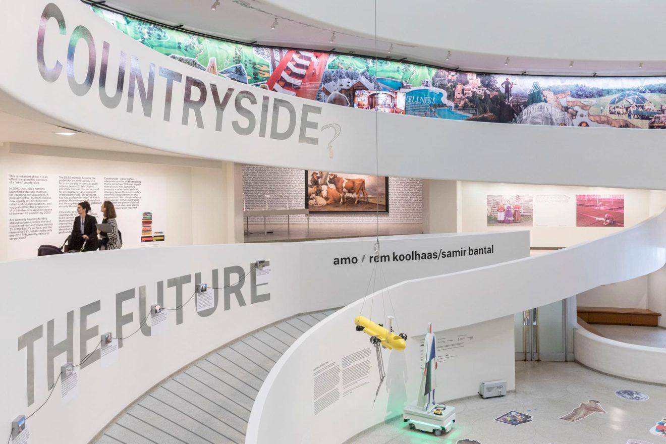 beeld van de tentoonstelling Countryside The Future in het Guggenheim