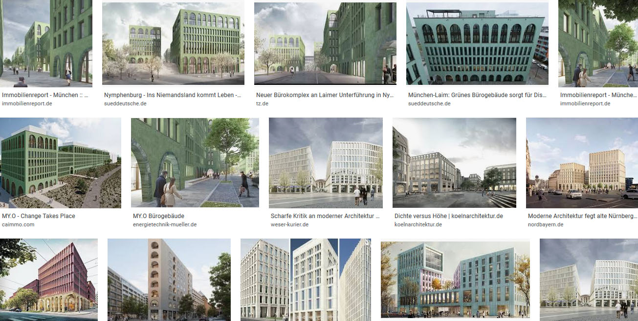 print screen google search Bögen moderne Architektur