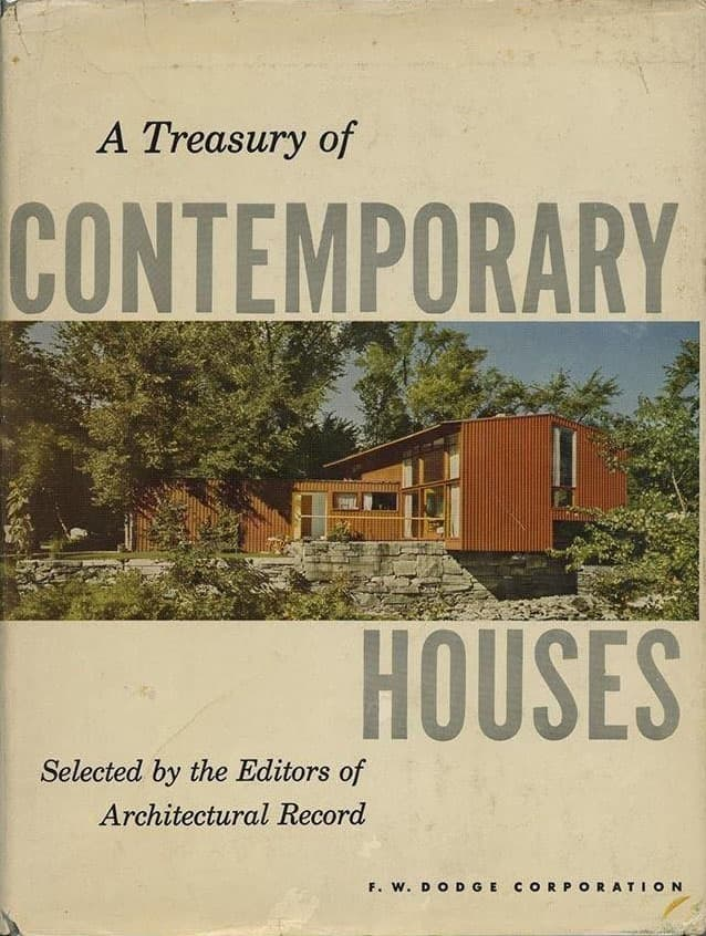 cover of the 1954 Architectural Record monograph on houses