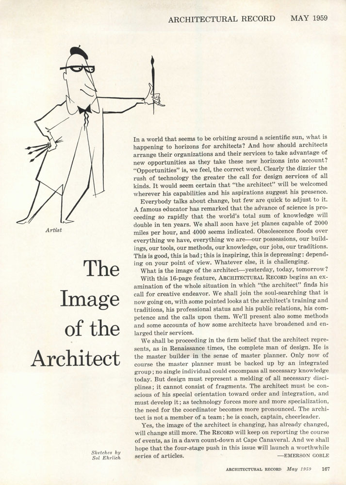 'The Image of the architect' series from 1959 Architectural Record