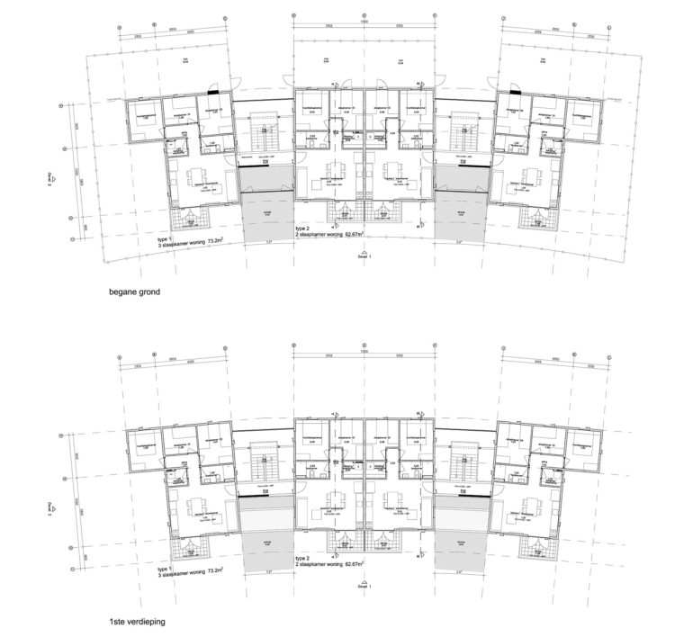 bestek plattegronden blok D woningbouw, Curaçao / OZ