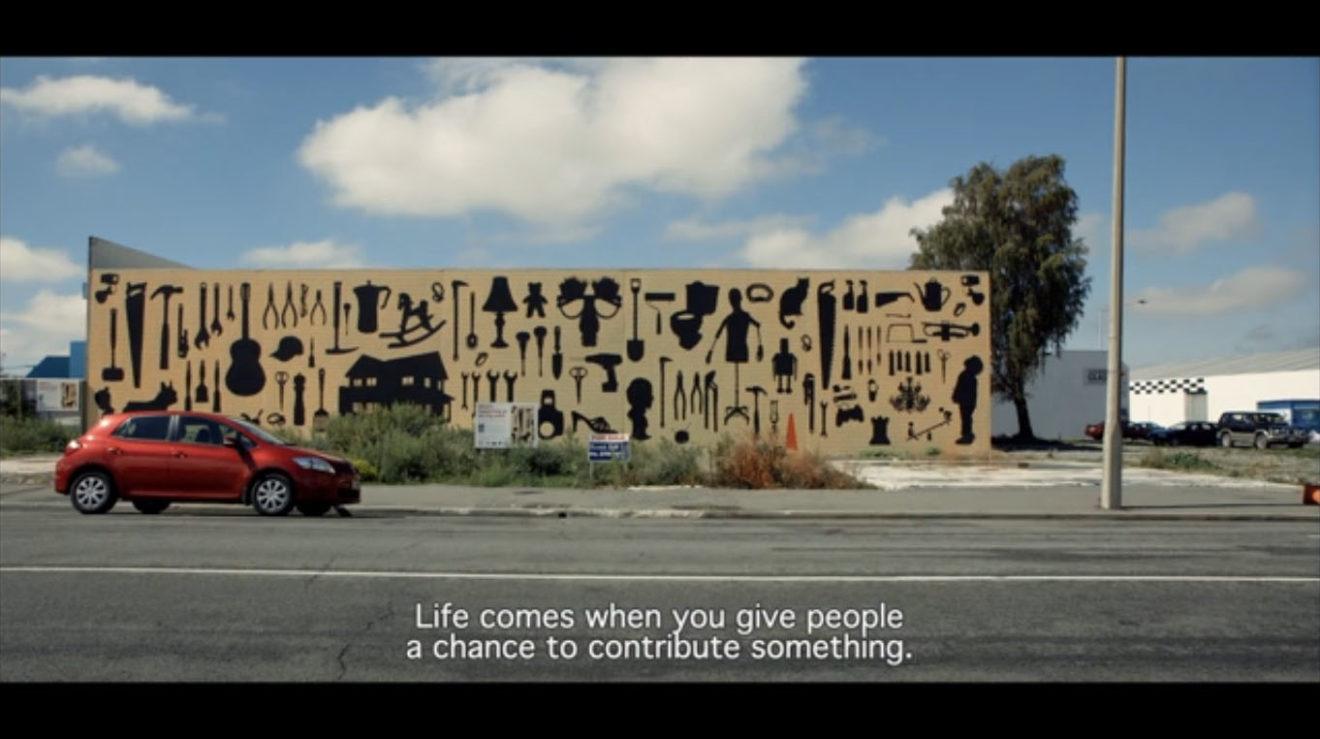 Still uit de film The human scale (Andreas Dalsgaard, 2012) een film over de ontwerppraktijk van Jan Gehl.