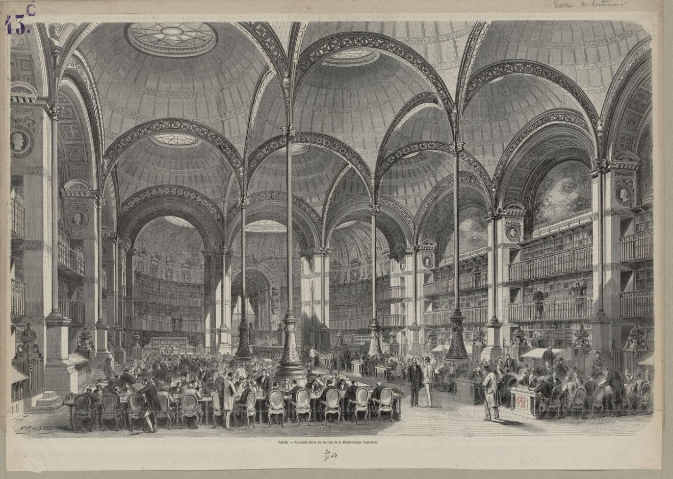 Leeszaal Bibliotheque Nationale in Parijs