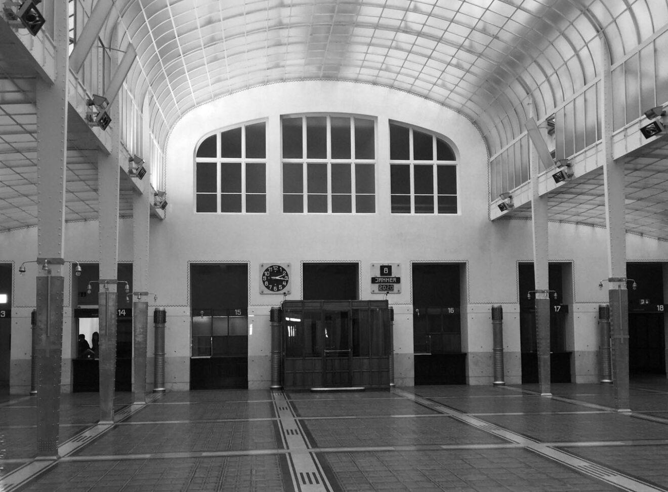 Kassensaal, Postsparkasse, Wenen 1902-1906 / Otto Wagner / foto Eireen Schreurs