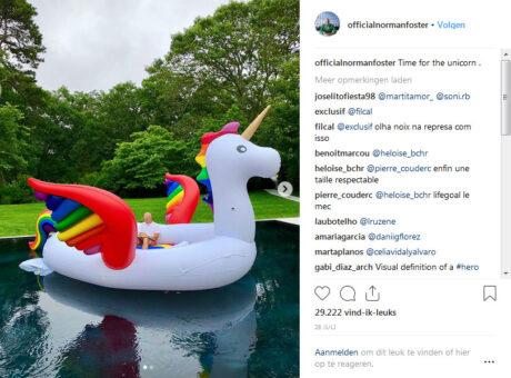 Instagram-account van Norman Foster