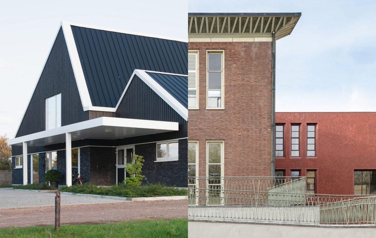 Links: Paardenkliniek Equinox in Kasterklee van Osar / Rechts: Z33 - Huis voor Actuele Kunst Hasselt van Francesca Torzo