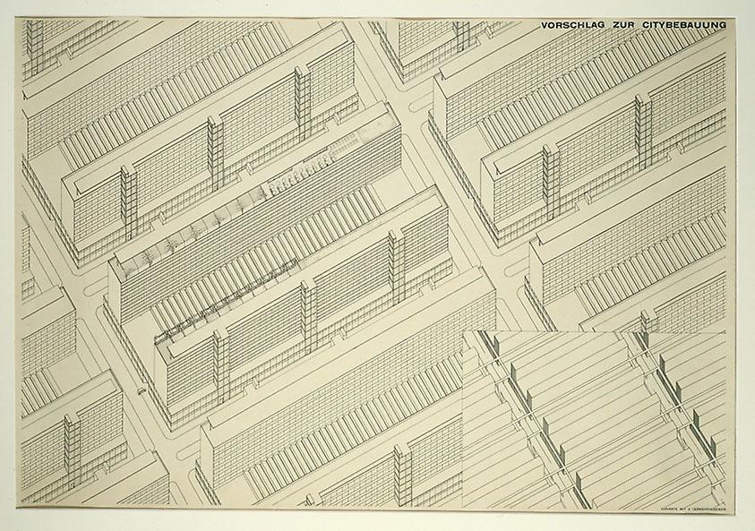 Berlin Development Project, Berlin, Germany, Isometric – Ludwig Hilberseimer, Metropolisarchitecture, 1928
