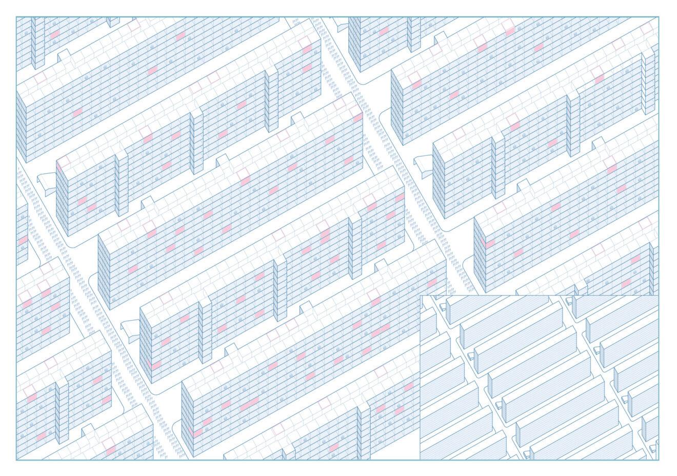 One State Housing, interpretatie van Yevgeniy Zamyatin's We / Jana Čulek, 2019