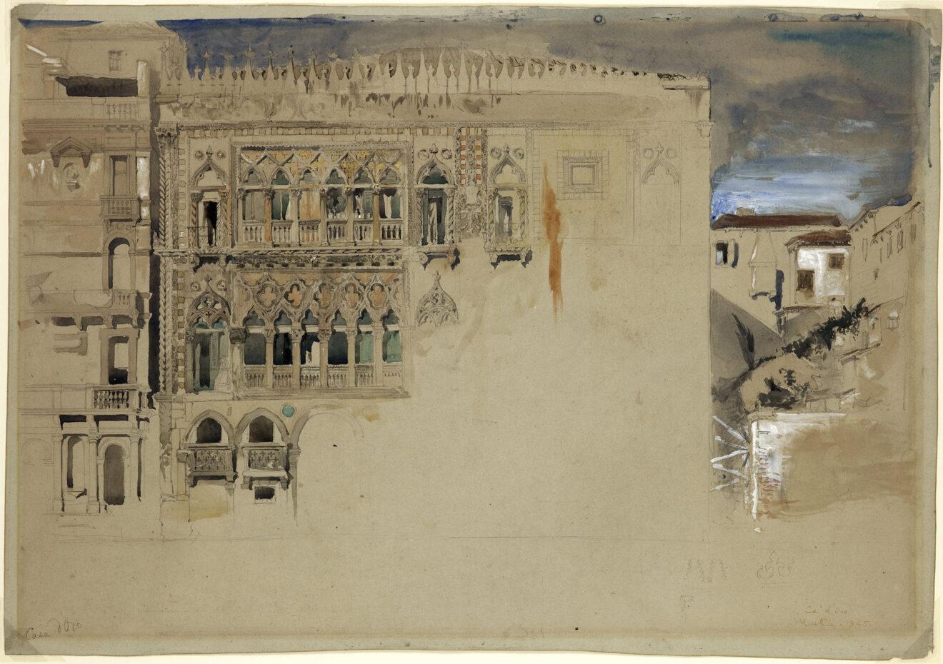 Ca d'Oro Venice / John Ruskin, 1845