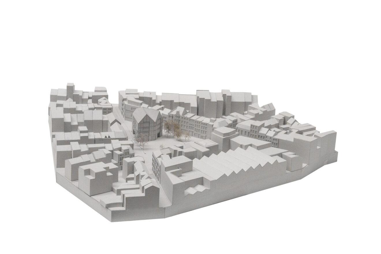 stedenbouwkundige maquette De Coninckplein, Antwerpen