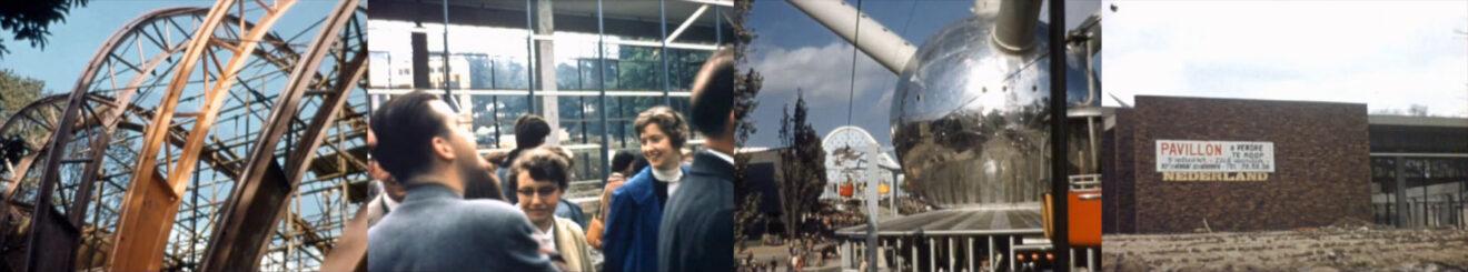 beelden uit een film van Jaap Bakema, gemaakt op de Expo '58 in Brussel