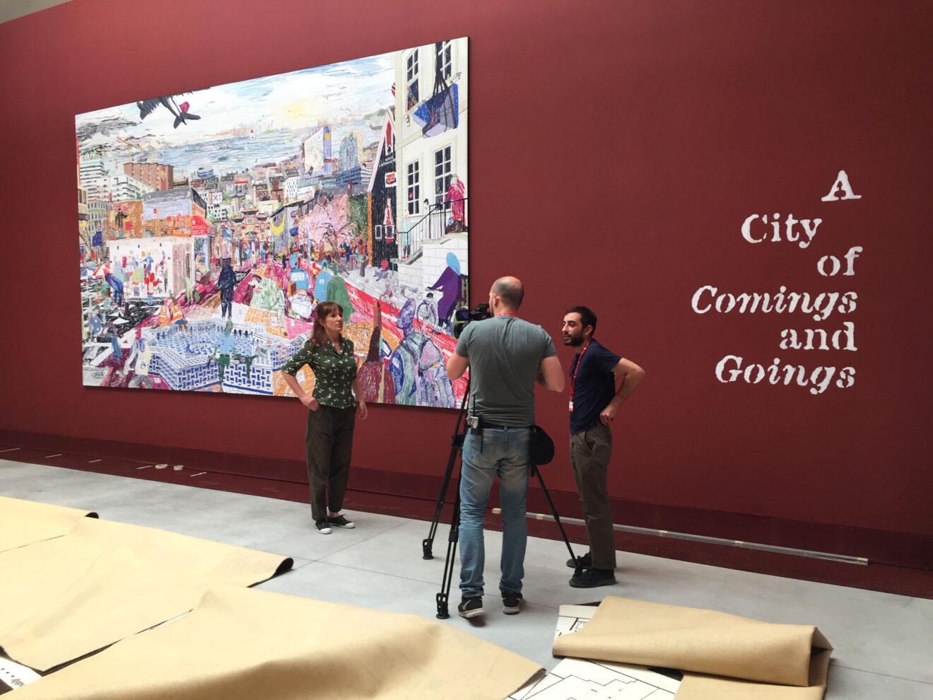 Tentoonstelling 'City of Comings and Goings' op de Biennale di Venezia, 2018