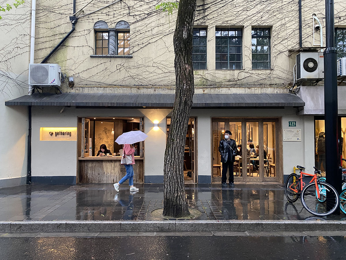 The coffee bar in Shanghai/ photo the author