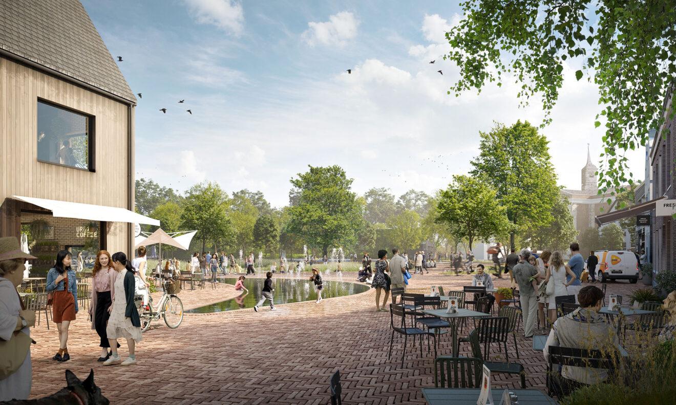 DELVA Centrumplan Ouderkerk aan de Amstel Visualisatie Kerkstraat