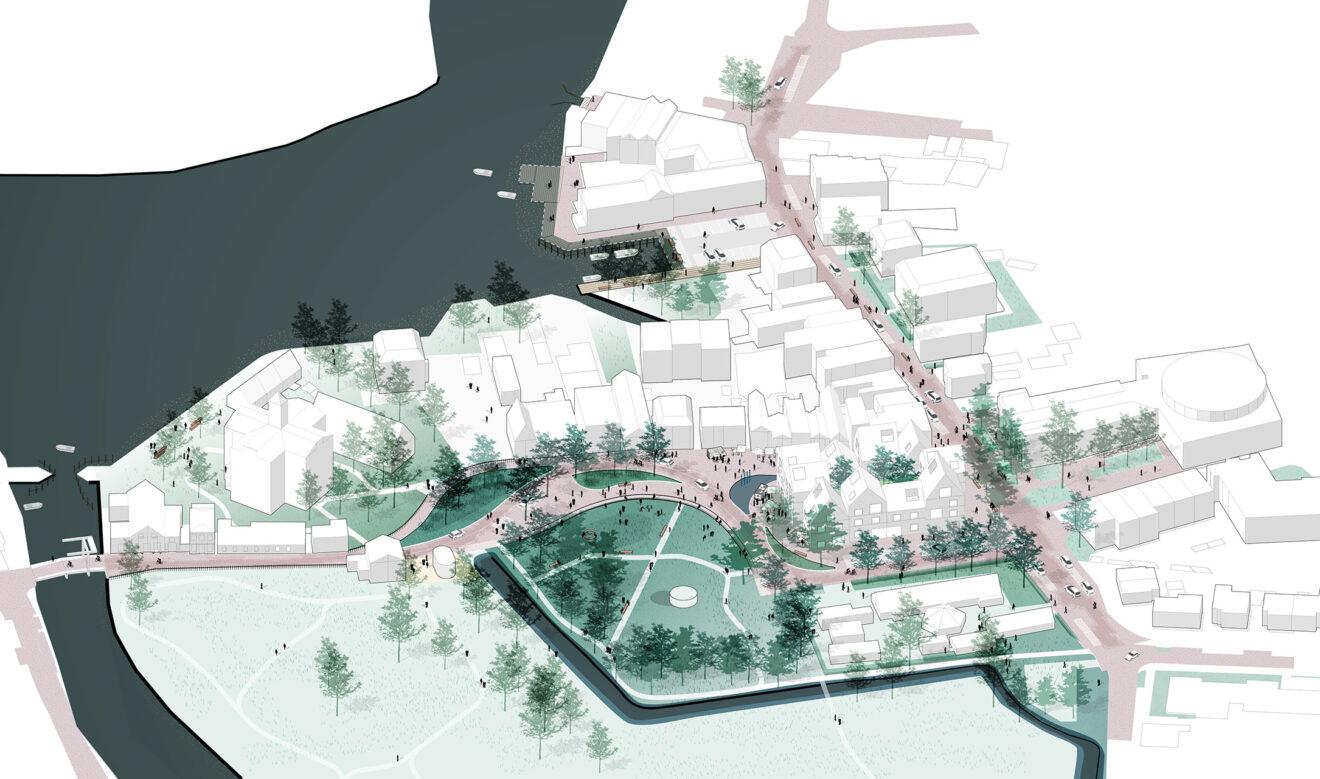DELVA Centrumplan Ouderkerk aan de Amstel Axonometrie