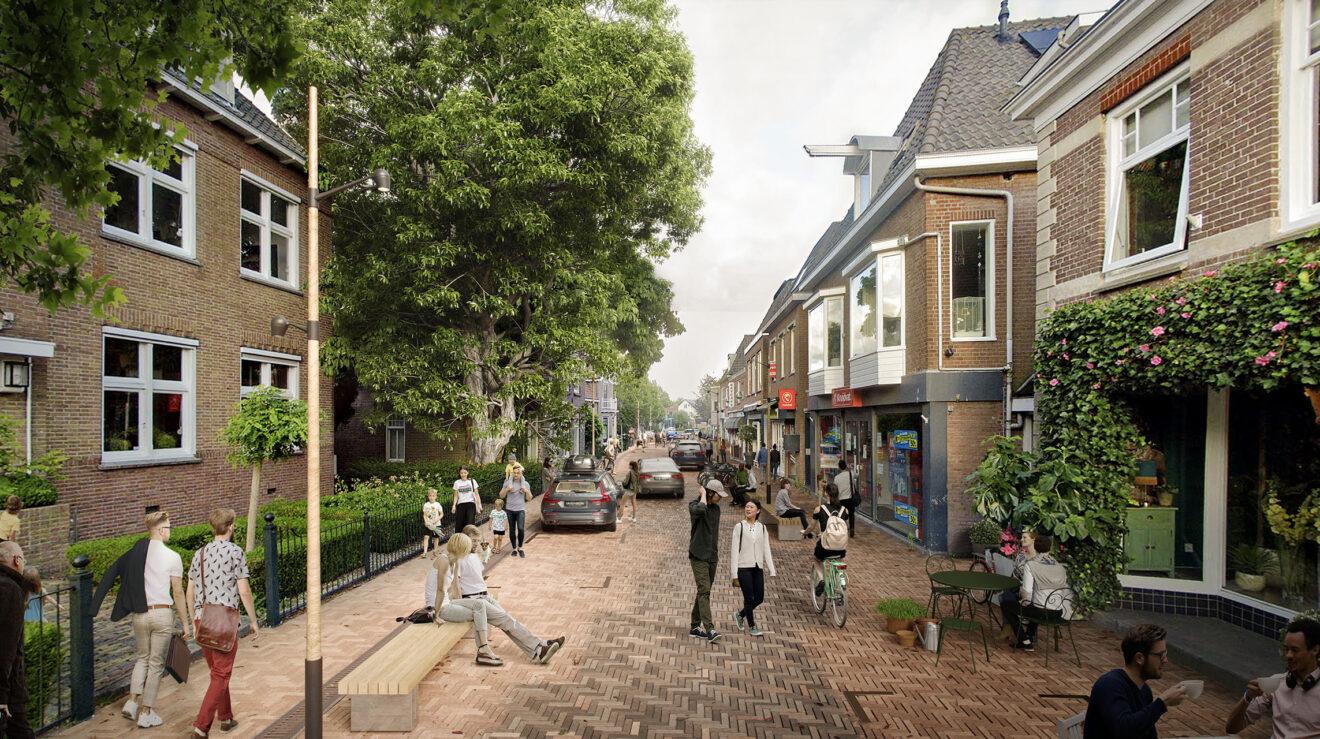 DELVA Centrumplan Ouderkerk aan de Amstel Visualisatie Dorpsstraat