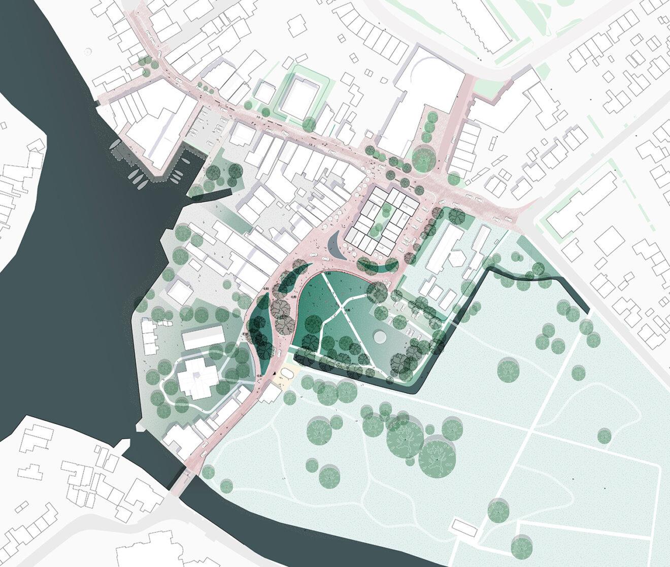 DELVA Centrumplan Ouderkerk aan de Amstel Plankaart