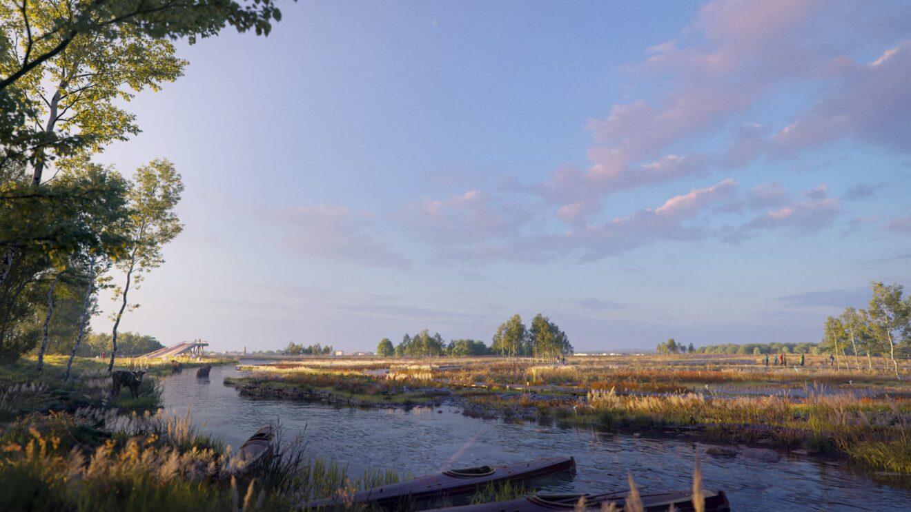 Image of the bog development along the flank of the Hondsrug / Aquabattery, Bureau B+B