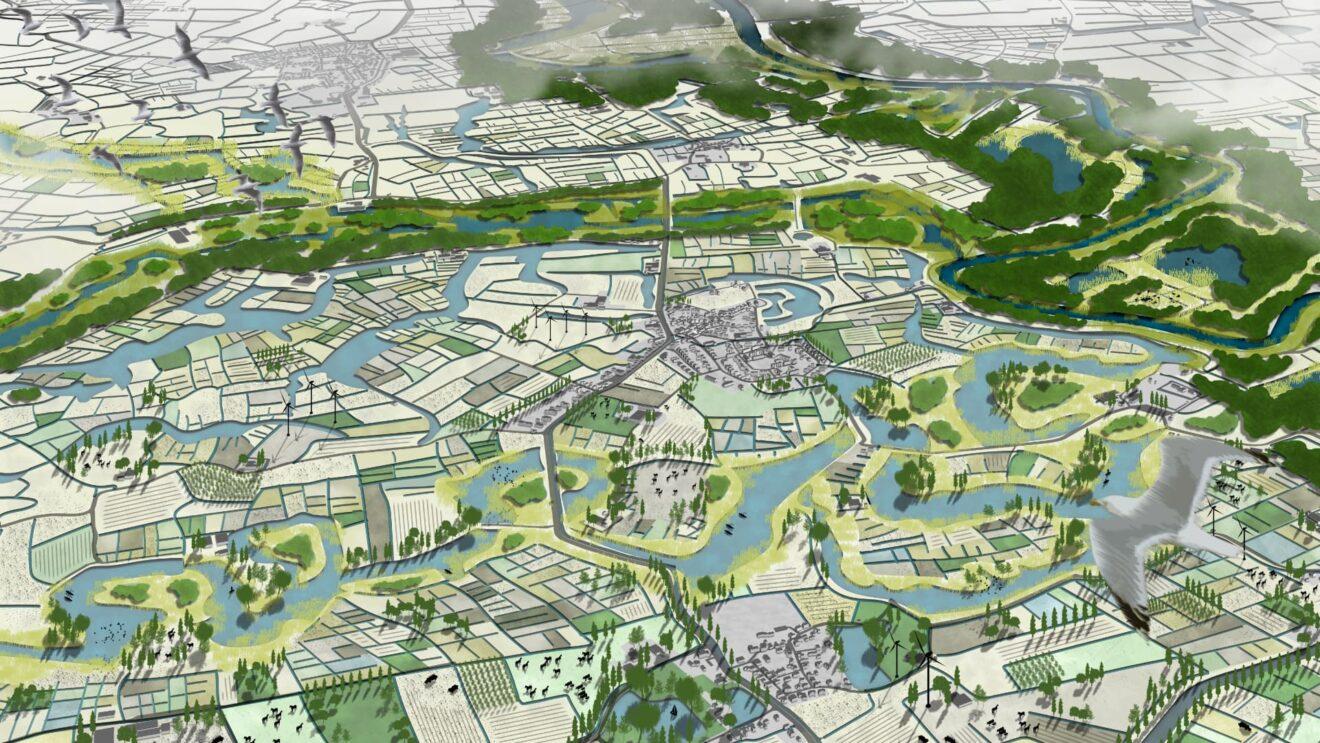 Development of agriculture until 2120 / ++ Water Heritage, MORE landscape