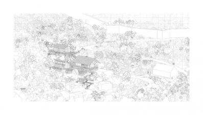 Axonometry - different degrees of openness towards the city