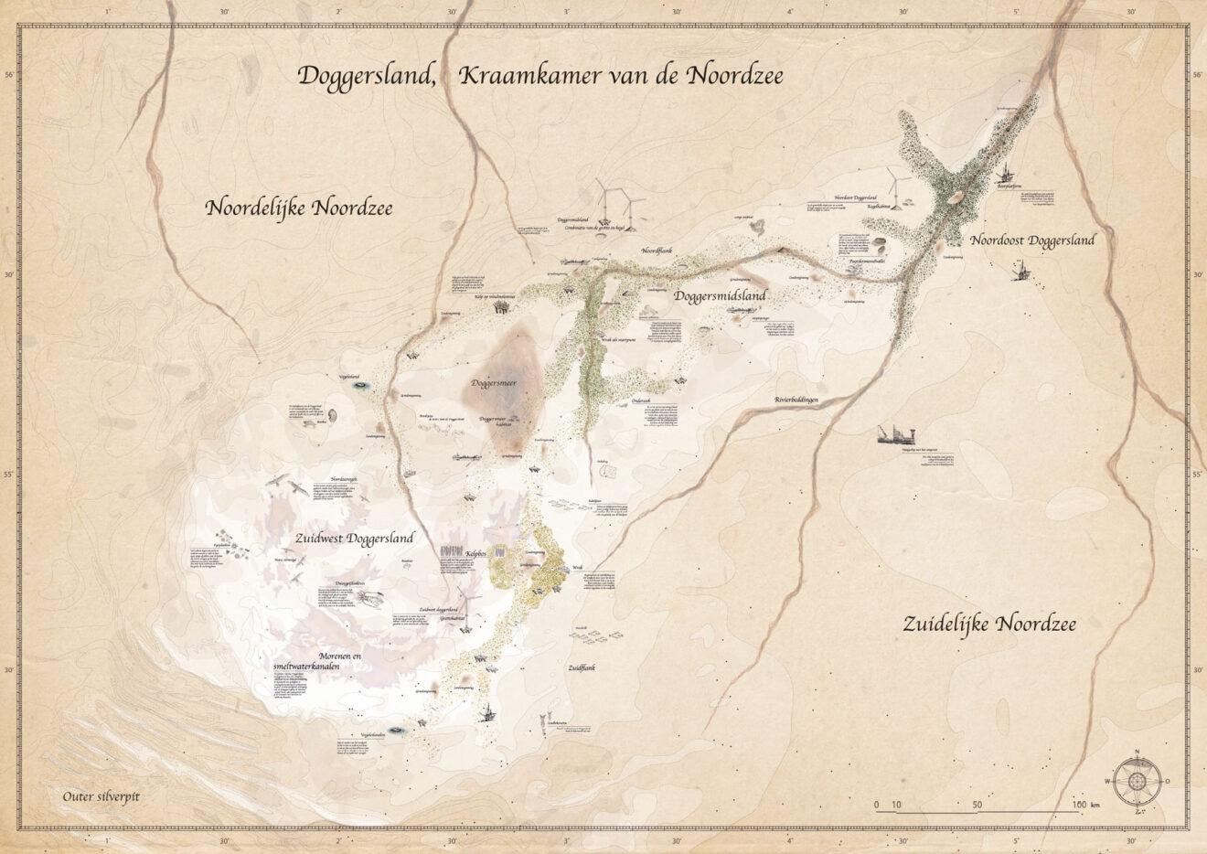 Het Doggersland, de kraamkamer van de Noordzee - Ziega van den Berk