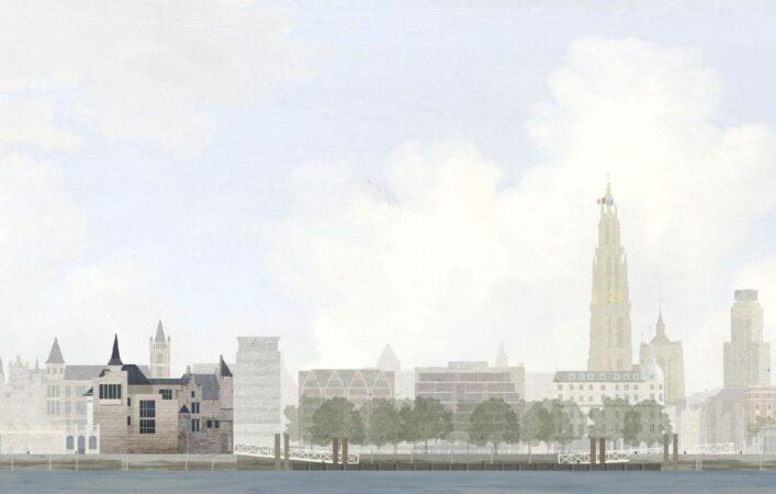 Winnende ontwerp voor Het Steen, Antwerpen / © NoAarchitecten
