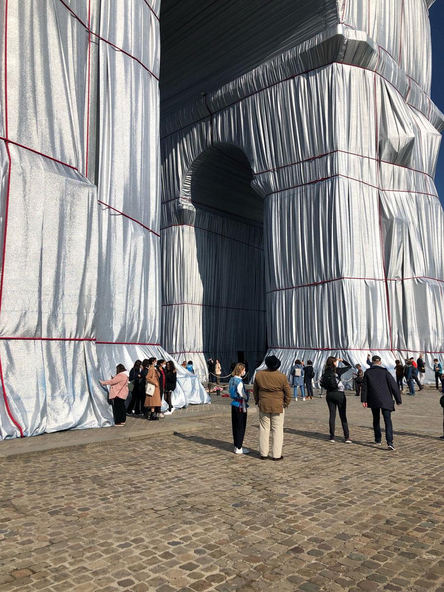 L'Arc de Triomphe / Christo en Jeanne-Claude / Parijs 2021